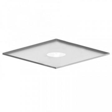 Фланец для дымохода (декоративный), нержавейка 0,5мм, 500х500, d150