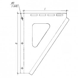 Консоль для труб настенная, нержавейка 2мм, L300