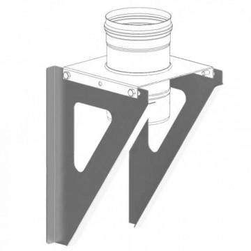 Консоль для труб настенная, нержавейка 2мм, L500
