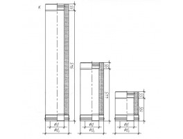 Сэндвич труба для дымохода, Нерж. 0,5мм / Нерж. 0,5мм D115/200, L1000мм