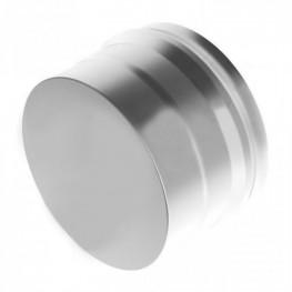 Заглушка для дымохода глухая Н, нержавейка 0,5мм d115