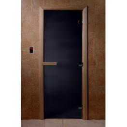 Дверь DoorWood 680х1890 «Чёрный жемчуг матовый»