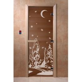 Дверь DoorWood 680х1890 «Зима»