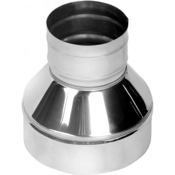 Конус (финиш) для дымохода, Нерж. 0,5мм / Нерж. 0,5мм d115/200