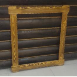 Рамка под зеркало брашированная, лиственница