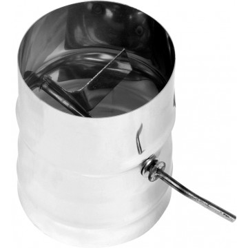 Шибер для дымохода поворотный, 0,8мм d115