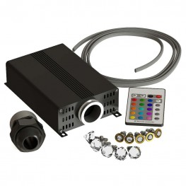 Звездное Небо SteamTec (комплект: проектор, пульт, волокно 50 м, кристаллы Swarovski 10 шт, IP67)